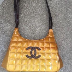Vintage authentic Chanel chocolate bar bag